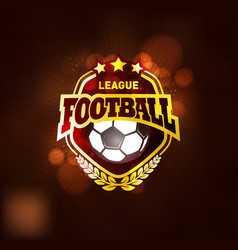 football championship winner golden emblem vector image