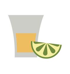 glass lemon flat vector image vector image