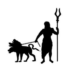 God hades silhouette ancient mythology fantasy vector