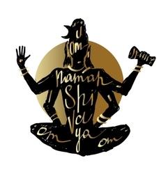Golden Shiva Typography poster vector