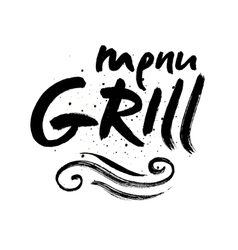 Grill lettering Background Modern vector