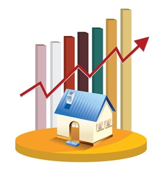 growth in real estate shown on chart vector image