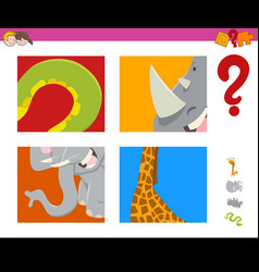 Guess animals activity game vector
