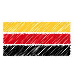 hand drawn national flag of germany isolated on a vector image