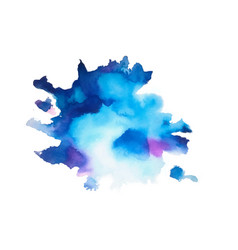 hand painted natural blue watercolor texture vector image