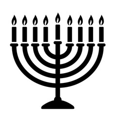 Hanukkah menorah candelabrum with candles icon vector