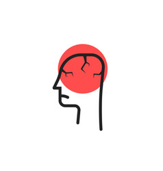 headache logo isolated on white vector image