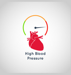 high blood pressure icon design vector image