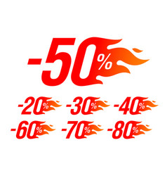 hot sale special offer discount labels set vector image