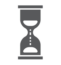 hourglass glyph icon development and business vector image