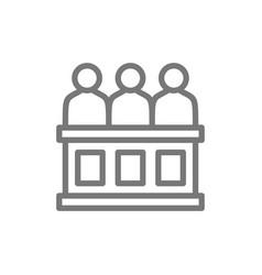 jury trial line icon vector image