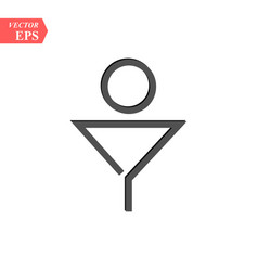man toilet sign symbol in simple design on white vector image