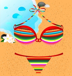 Many-colored swimsuit vector