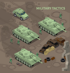 Military tactics isometric background vector