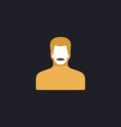 mustached man computer symbol vector image