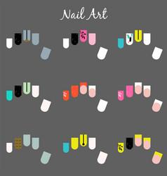Nail designs templates vector
