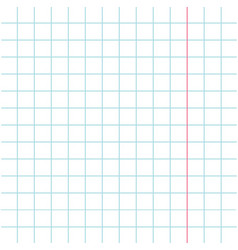 Notebook paper texture cell template with red vector