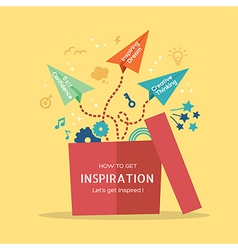 Out of the box Inspiration concept vector