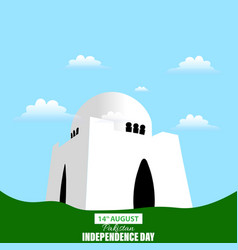 Pakistan independence day 14th august waving vector