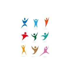 people sports symbols vector image