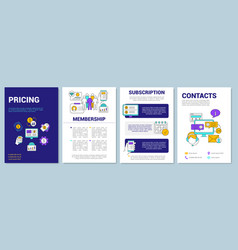 Pricing brochure template layout vector