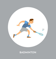 racquet sport competitors on tournament badminton vector image