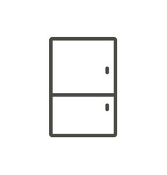 refrigerator icon outline fridge line kit vector image