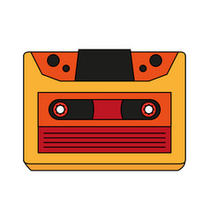 retro audio cassette tape vector image