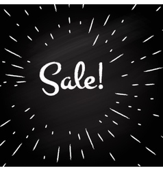 Sale -typographic design vector image
