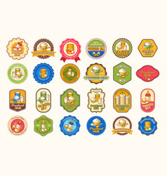 set of of colored icons vector image