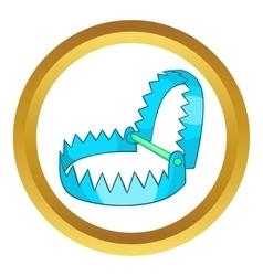 Sharp metal trap icon vector image
