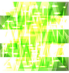 Shiny gentle green color pattern of shards and vector