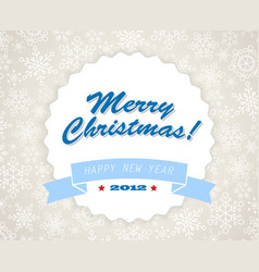 simple blue vintage retro christmas card vector image