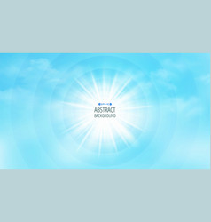 space of sun burst for texting background vector image