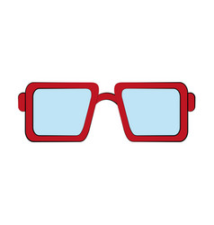 squared sunglasses icon image vector image
