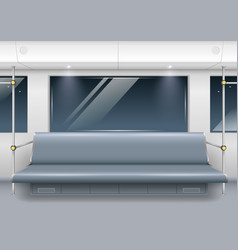 subway car interior vector image