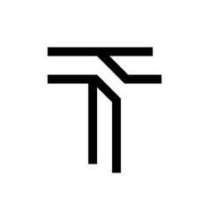 t letter logo vector image