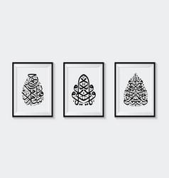 Three beautiful islamic calligraphy vector