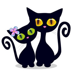 two black kittens vector image