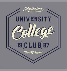 university college club vector image