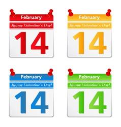 Valentine day congratulation vector image
