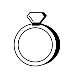 Wedding rings isolated icon vector
