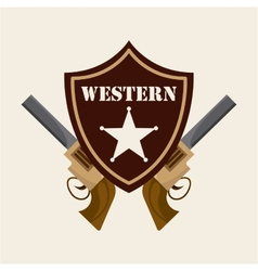western banner vector image