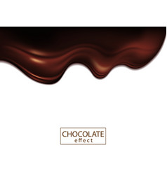 White background with effect chocolate vector