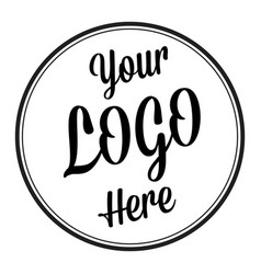 your logo here placeholder symbol vector image