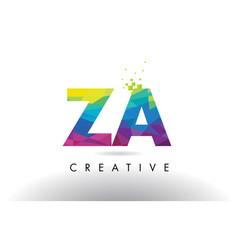 Za z a colorful letter origami triangles design vector