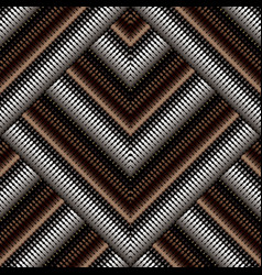 zigzag halftone geometric 3d seamless pattern vector image