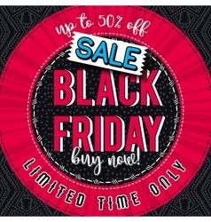 Black friday sale banner on color patterned backgr vector image vector image