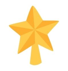 Christmas star tree symbol vector image