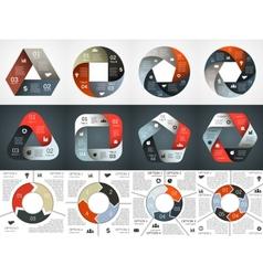 Circle infographic diagram graph presentation vector